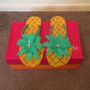 Kate Spade New York Pineapple Flip Flops
